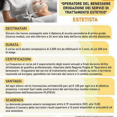 Corso per ESTETISTA – Operatore del benessere – Erogazione dei servizi di trattamento estetico